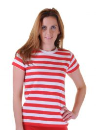 T-Shirt Red & White Striped (Where's Wally) Adult