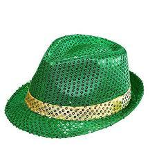St Patrick's Day Sequinned Fedora