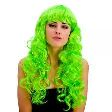 Long Curly Green Wig - FOXY