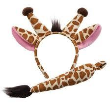 Giraffe Ears and Tail Set