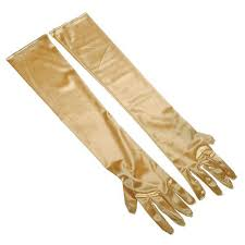Gold Satin Gloves