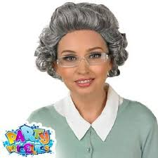 Grandma Wig and Glasses