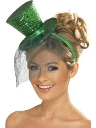 Mini Green Glitter Top-Hat