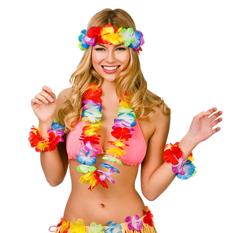 Colourful Hawaiian Lei Set