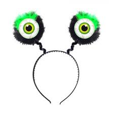 Alien Feathered Green Eyed Headboppers