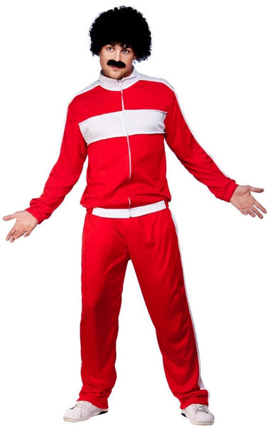 80's Red Retro Trackie