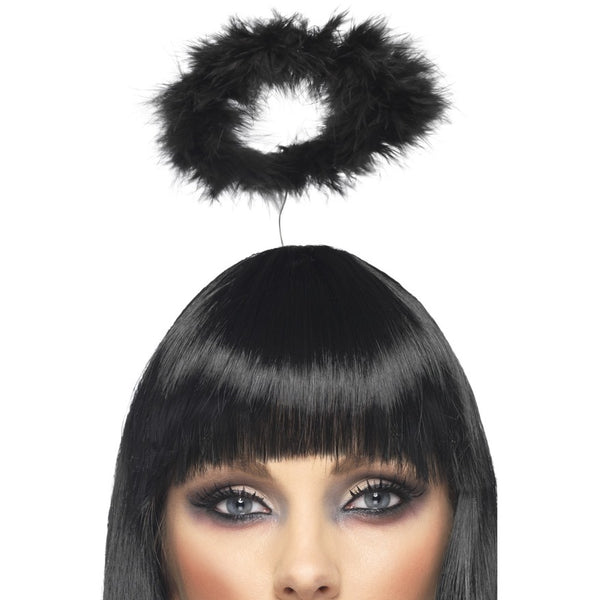 Black Feather Angel Halo