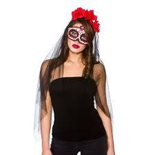 Day of the Dead Deluxe Mask and & Veil