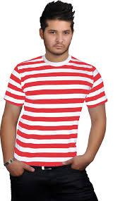 T-Shirt - Red & White (Where's Wally) Adult