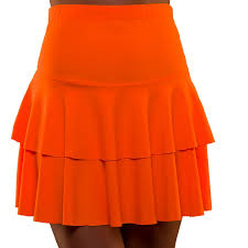 80's Orange RaRa Skirt