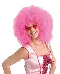 Large Pink Afro Wig