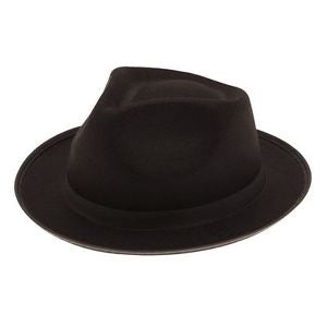 Black Trilby Hat – Fancy Dress Box 7d33be081079