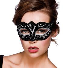 Black and Silver Verona Masquerade Mask