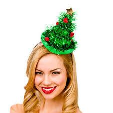 Mini Tinsel Tree Hat
