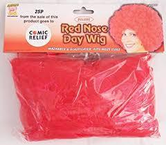 Deluxe Red Nose Day Wig - Clearance Item