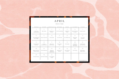 April 2019 self-care calendar