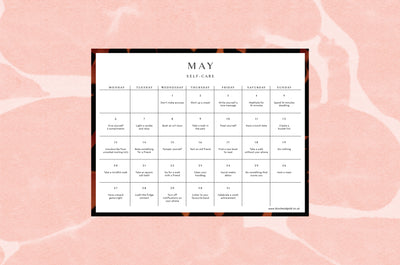 May 2019 self-care calendar