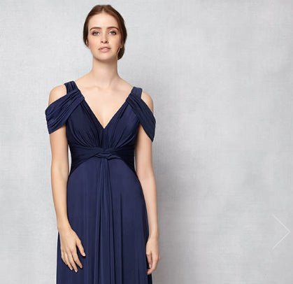 Navy bridesmaid dress for the summer