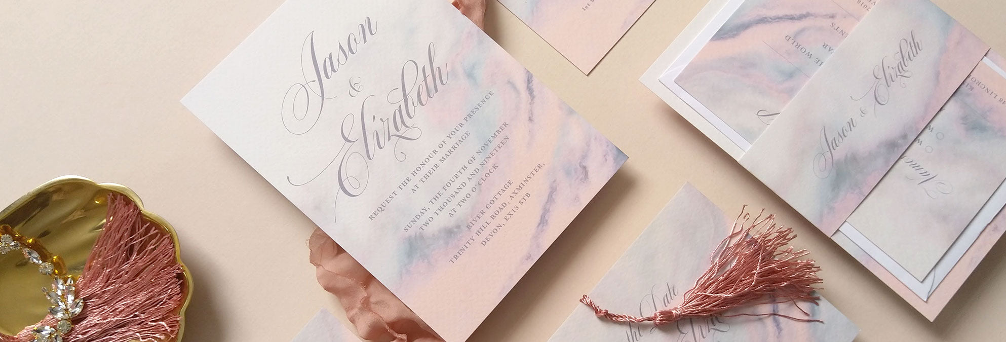 Agate wedding invitation