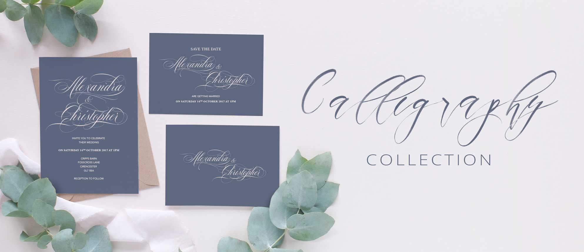 calligraphy wedding collection