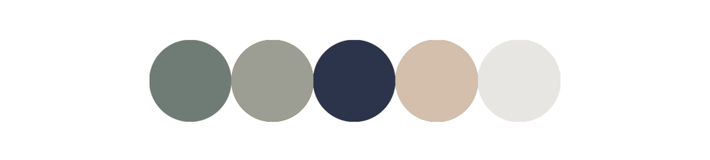 sage green and taupe