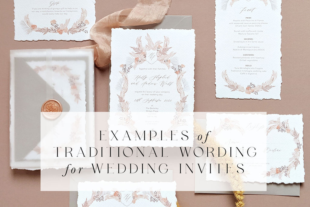 examples of traditional wording for wedding invites