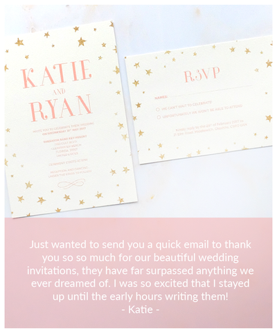 ivory and pink invite