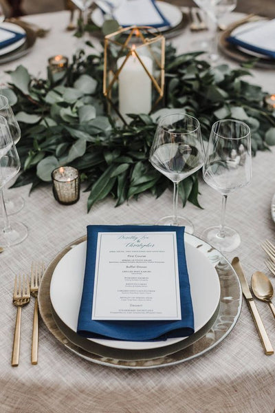 blue and sage green wedding