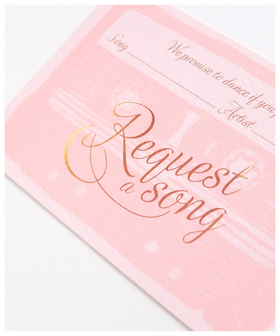 request a song card for weddings