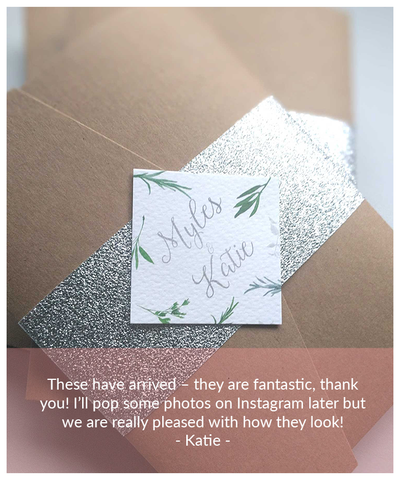 glitter silver wedding invitation package