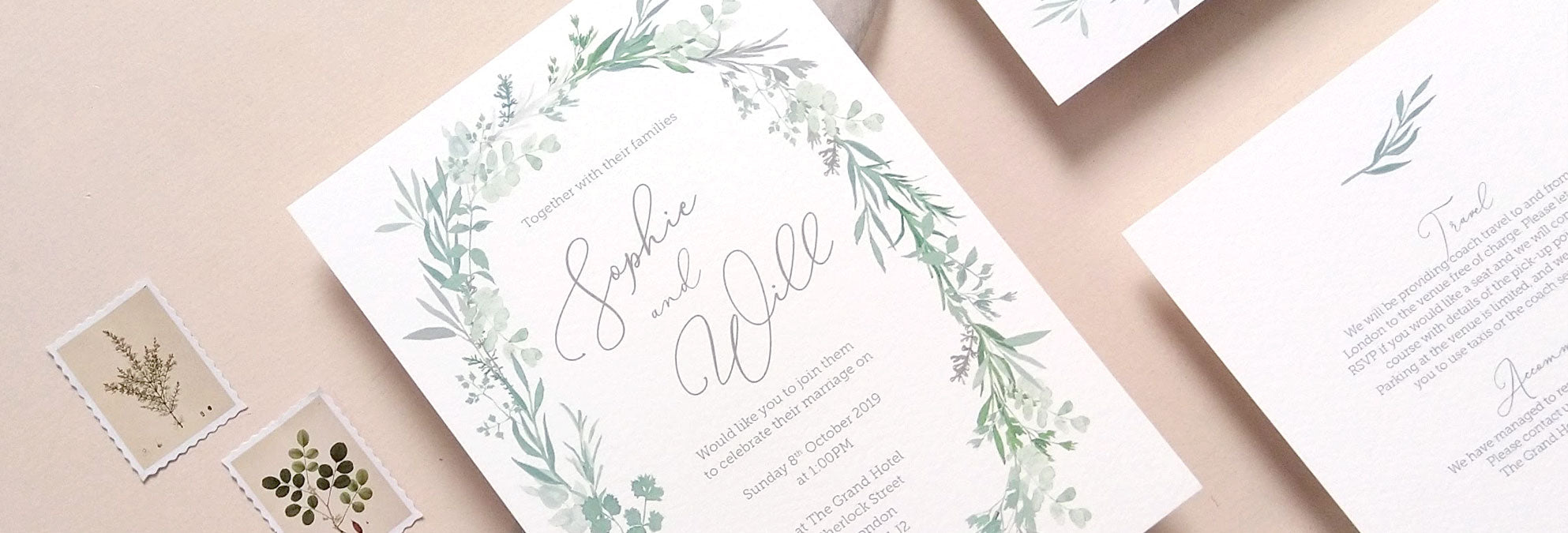 Italian wedding invitation design