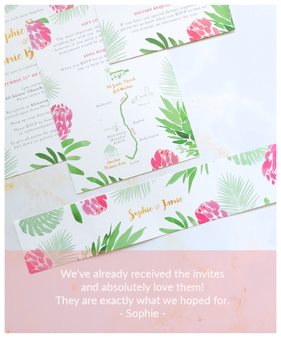 tropical wedding invitation review