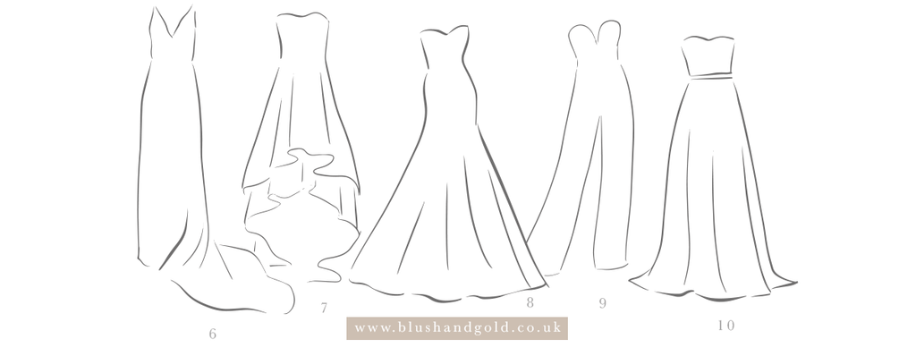 wedding dress shapes and styles