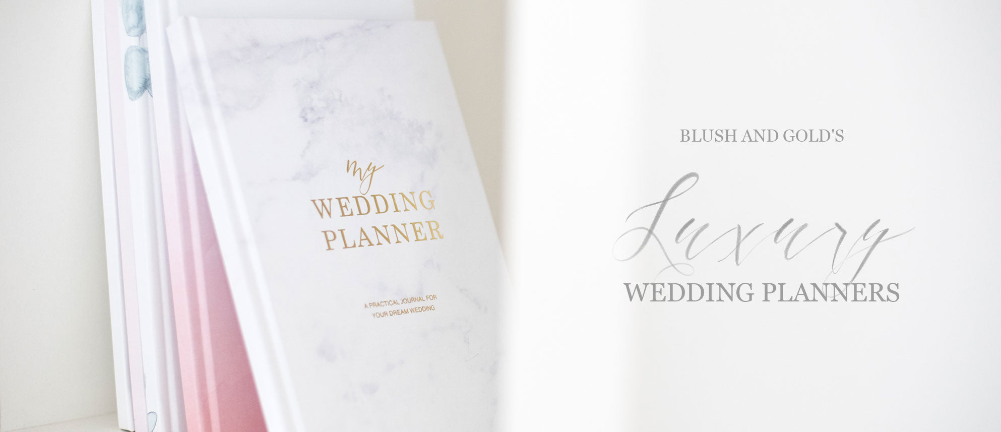 Wedding Planners Books Blush and Gold