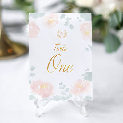 romantic wedding table number card