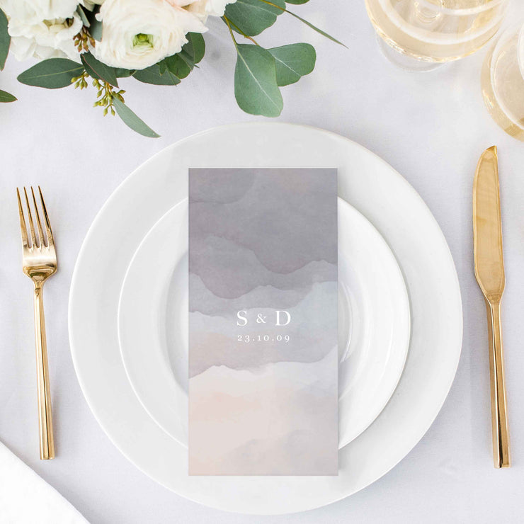 minimalist wedding menu