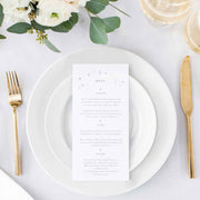 under the stars wedding menu