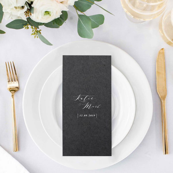 small wedding menu