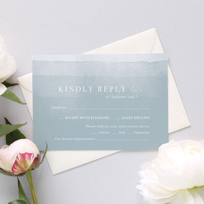 'Dusty Blue' RSVP