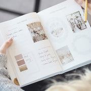 Light Grey + Rose Gold Foil Wedding planner book