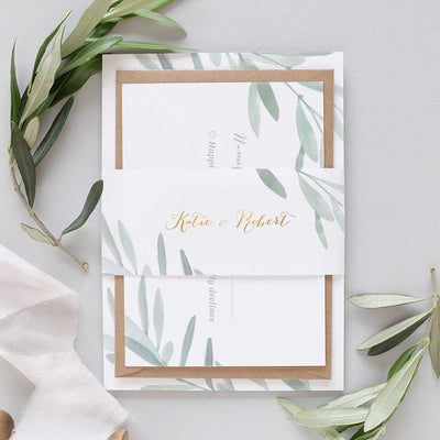 greek wedding invitation package