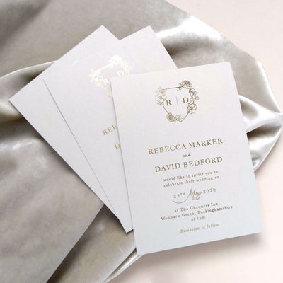 elegant simple wedding invitation