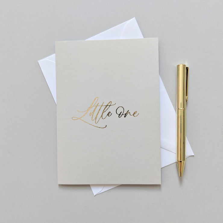 simple and elegant baby greetings card