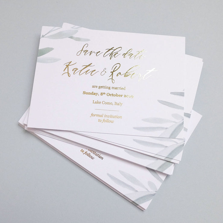 Olive Save the date - The Luxe Collection *Foil*