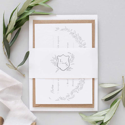 elegant Italian wedding invitation package