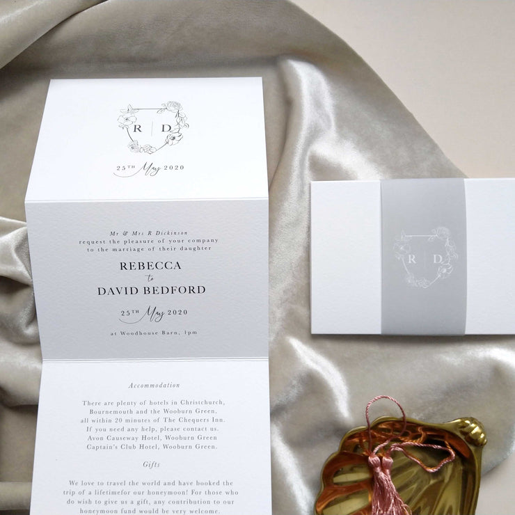 'Mayfair' Concertina Wedding Invitation Package