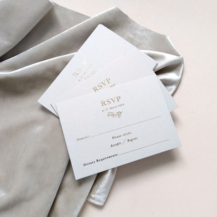 Mayfair RSVP Cards - The Luxe Collection *Foil*