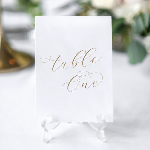 'Valentina' Table Numbers