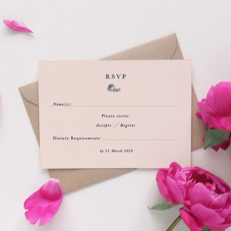minimalist rsvp for weddings