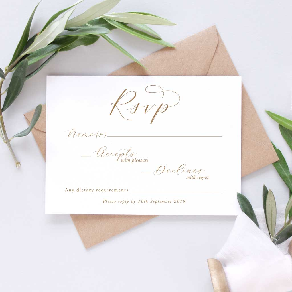 rsvp for wedding card